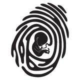 Finger print fetus Stock Image