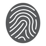 Finger print glyph icon, development and business. Branding sign vector graphics, a solid pattern on a white background, eps 10 Royalty Free Stock Photo