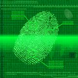 Finger print green Stock Photography