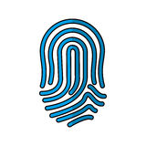 Finger print icon. Over white background. vector illustration Royalty Free Stock Images
