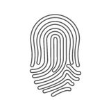 Finger print icon. Over white background. vector illustration Royalty Free Stock Photos
