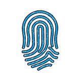 Finger print icon. Over white background. vector illustration Stock Image