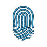 Finger print icon Stock Image