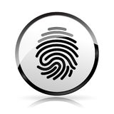 Finger print icon on white background. Illustration of finger print icon on white background Royalty Free Stock Photos