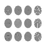 Finger print icons. Big set fingerprint symbol Stock Photo
