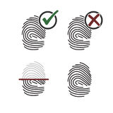 Finger print icons. Set of icons on a theme finger print Stock Photo