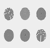 Finger print icons set vector Royalty Free Stock Image