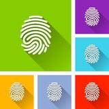 Finger print icons with shadow. Illustration of finger print icons with shadow Stock Photos