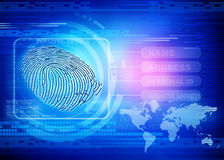 Finger print identity. New technology of Thumb impression , finger print identity background Royalty Free Stock Images