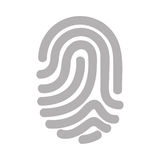 Finger print isolated icon. Vector illustration design Royalty Free Stock Photos