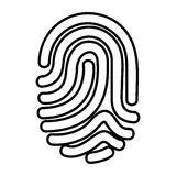 Finger print isolated icon. Vector illustration design Stock Photo