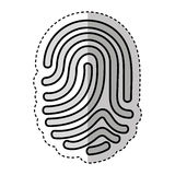 Finger print isolated icon. Vector illustration design Royalty Free Stock Images