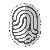 Finger print isolated icon Stock Photography