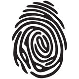 Finger print light. Black color Royalty Free Stock Photography