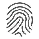 Finger print line icon, development and business. Branding sign vector graphics, a linear pattern on a white background, eps 10 Royalty Free Stock Image
