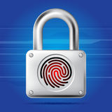 Finger print lock Stock Image