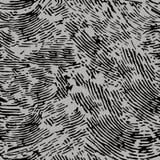 Finger Print Monochrome Seamless Pattern. EPS10 Vector Royalty Free Stock Photo