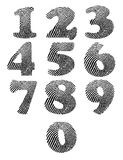 Finger print numbers Royalty Free Stock Photo