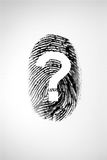 Finger print and question mark Stock Images