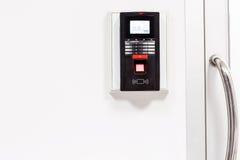 Finger print scan for unlock door security system Stock Images