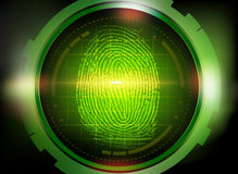 Finger print on scanner Royalty Free Stock Image