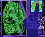 Finger-print scanning. Vetor illustration of a finger-print scanning Royalty Free Stock Image