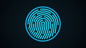 Finger-print Scanning Identification System. Biometric Authorizations and approval. concept of the future of security and password control through fingerprints vector illustration