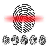 Finger print scanning vector  clipart. Id  check  vector icon Stock Photos