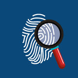 Finger print search secure data. Illustration eps 10 Stock Images