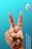 Finger print security. Concept image of finger print security protection Stock Images