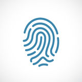 Finger print vector icon. Illustration Royalty Free Stock Images
