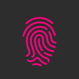 Finger print vector icon. Illustration Stock Photos