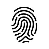Finger print vector icon. Illustration Stock Photography