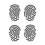 Finger print vector icon. Finger prints vector icons set Royalty Free Stock Image