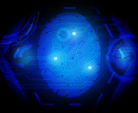 Finger print. Vector illustration  finger print on black Royalty Free Stock Photos