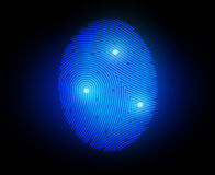 Finger print. Vector illustration  finger print on black Royalty Free Stock Photo