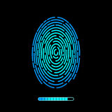 Finger print vector technology design. Finger print vector technology vector design Royalty Free Stock Photo