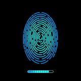 Finger print vector technology design. Royalty Free Stock Photo