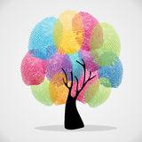 Finger prints diversity tree Royalty Free Stock Photography