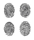 Finger prints set icon vector. Stylized design Royalty Free Stock Images