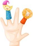 Finger puppets. Illustration of isolated finger puppet on white Stock Photo