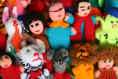 Finger puppets. Colorful Finger puppets Stock Photography