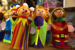 Finger puppets retro toys Christmas toys Royalty Free Stock Image