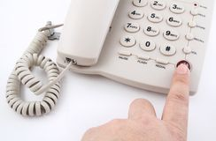 Finger push button Stock Photos