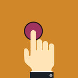 Finger push button Royalty Free Stock Photos