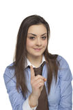 Finger que amenaza de la empresaria Foto de archivo libre de regalías