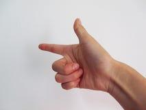 Finger que señala lejos Fotografía de archivo