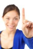 Finger raised Stock Image