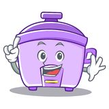 Finger rice cooker character cartoon Stock Image