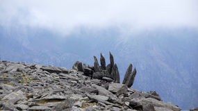 Finger rocks on Glyder Fawr in Snowdonia Stock Images